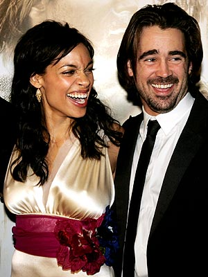 Photo of Rosario Dawson & her friend  Colin Farrell