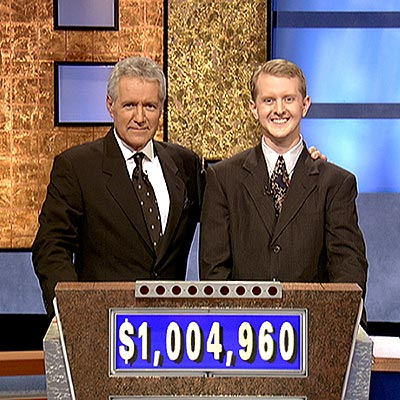 MOST TRIVIAL WINNER photo | Alex Trebek, Ken Jennings