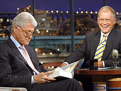 FUNNIEST PRESIDENTIAL VISIT  photo | Bill Clinton, David Letterman