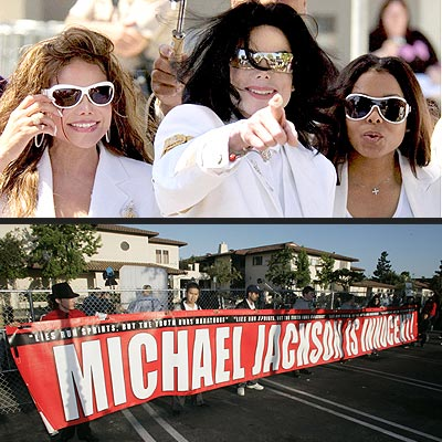 LATEST JACKSON SPECTACLE  photo | Michael Jackson Trial, Michael Jackson