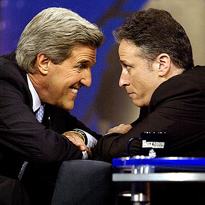 FUNNIEST TETE-A-TETE photo | John Kerry, Jon Stewart