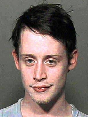 busted Macaulay Culkin mugshot