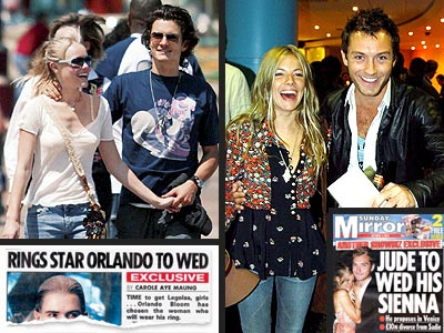 BIGGEST RELIEF FOR SINGLE WOMEN photo | Jude Law, Kate Bosworth, Orlando Bloom, Sienna Miller
