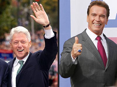 MOST POWERFUL CAMPAIGNERS  photo | Arnold Schwarzenegger, Bill Clinton