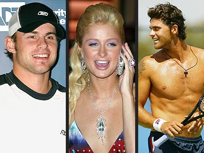 BIGGEST PLAYERS photo | Andy Roddick, Mark Philippoussis, Paris Hilton