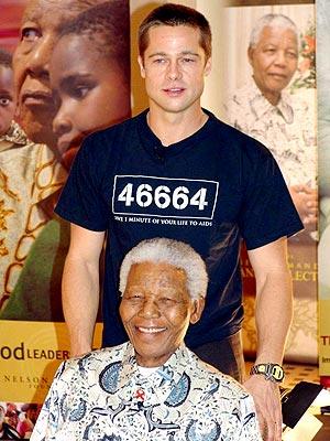 SEXIEST ACT OF GOODWILL photo | Brad Pitt, Nelson Mandela