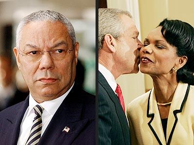 MOST NOTEWORTHY HAND-OVER  photo | Colin Powell, Condoleezza Rice