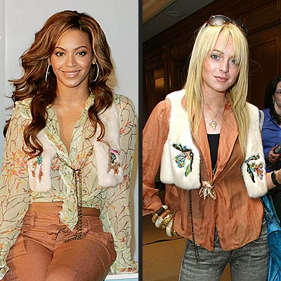 BEYONCÉ VS. LINDSAY  photo | Beyonce Knowles, Lindsay Lohan