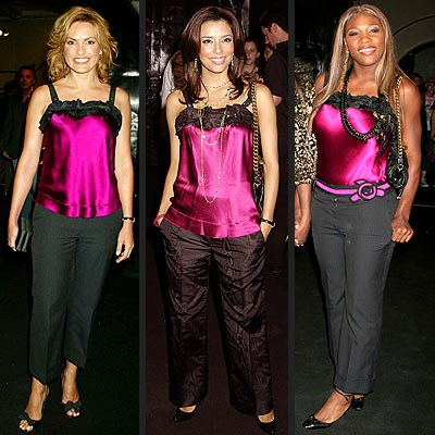 MARISKA VS. EVA VS. SERENA photo | Eva Longoria, Mariska Hargitay, Serena Williams