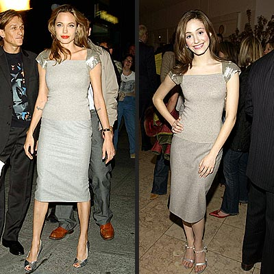 ANGELINA VS. EMMY photo | Angelina Jolie, Emmy Rossum
