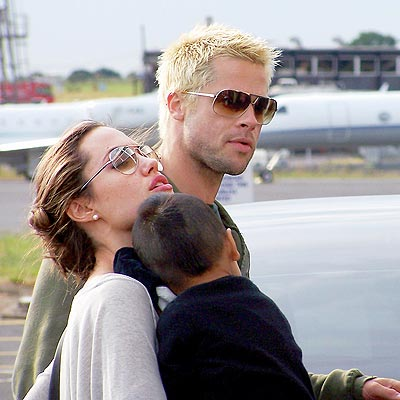 THREE FOR THE ROAD photo | Angelina Jolie, Brad Pitt