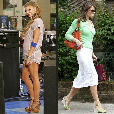 WEDGES photo | Elizabeth Hurley, Fergie