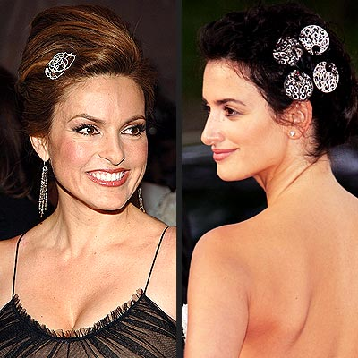 TREND: JEWELED BARRETTES photo | Mariska Hargitay, Penelope Cruz