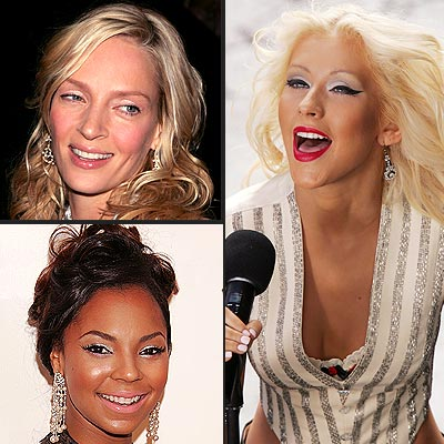 TREND: SILVER EYESHADOW photo | Ashanti, Christina Aguilera, Uma Thurman