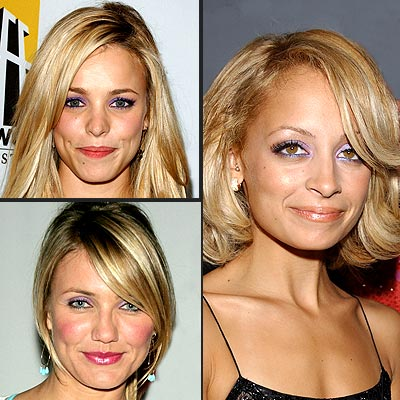TREND: PURPLE EYESHADOW photo | Cameron Diaz, Nicole Richie, Rachel McAdams