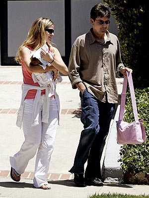 CHARLIE & DENISE:ON THE SAME PAGE photo | Charlie Sheen, Denise Richards