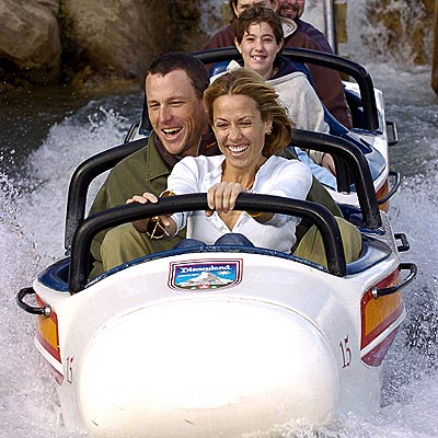 DISNEYLAND photo | Lance Armstrong, Sheryl Crow