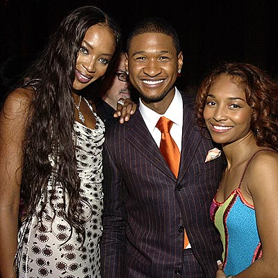 BREAKUP: USHER & CHILLIHOOKUP: USHER & NAOMI photo | Naomi Campbell, Rozonda Thomas, Usher