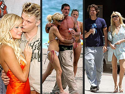 BREAKUP: PARIS & NICKHOOKUP: PARIS & ...  photo | Jason Shaw, Nick Carter, Paris Hilton, Simon Rex
