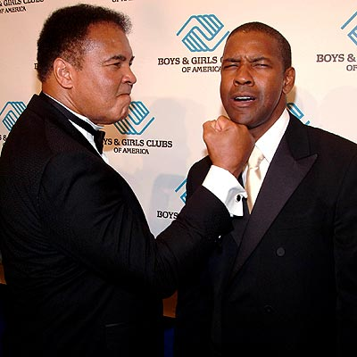 SPORTS FAN photo | Denzel Washington, Muhammad Ali