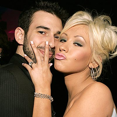 CHRISTINA AGUILERA & JORDAN BRATMAN photo | Christina Aguilera, Jordan Bratman