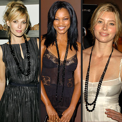 TREND: JET-BEADED NECKLACES photo | Garcelle Beauvais-Nilon, Jessica Biel, Molly Sims