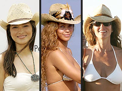 STRAW COWBOY HATS photo | Beyonce Knowles, Cindy Crawford, Kelly Hu