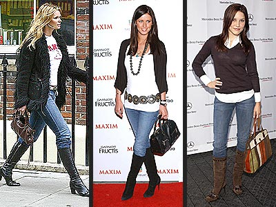 JEANS TUCKED IN BOOTS photo | Elle Macpherson, Nicky Hilton, Sophia Bush