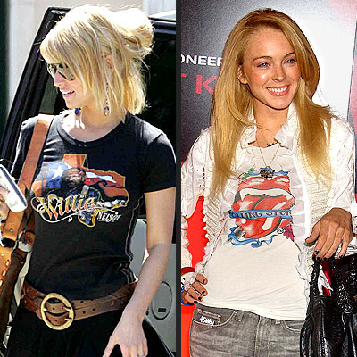 ROCK STAR photo | Jessica Simpson, Lindsay Lohan