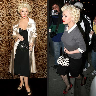 Fashion on Hot Trend  Retro Fashion   Christina Aguilera  1950s   Christina