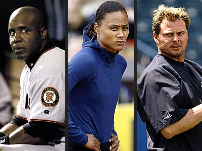 BAD SPORTS  photo | Barry Bonds, Jason Giambi, Marion Jones