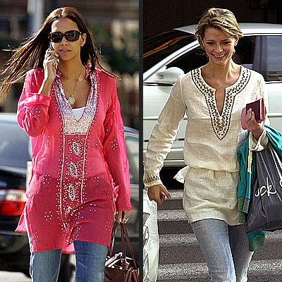 TREND: TUNICS photo | Halle Berry, Mischa Barton