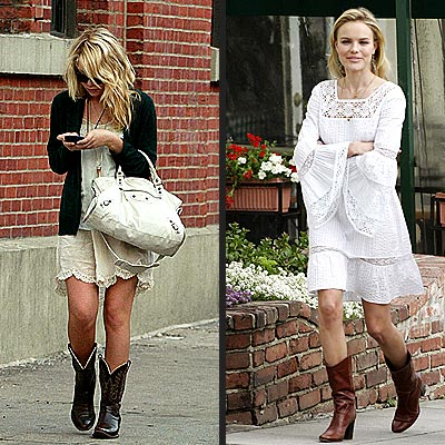 TREND: COWBOY BOOTS photo | Ashley Olsen, Kate Bosworth