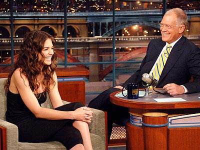 LAUGHING MATTER photo | David Letterman, Katie Holmes
