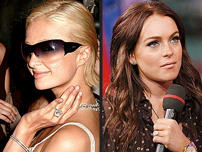WHAT'S UP WITH THEIR RINGS? photo | Lindsay Lohan, Paris Hilton