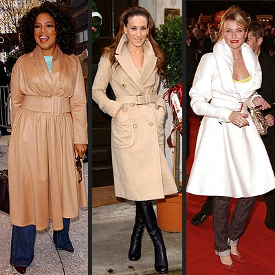 TREND: BELTED COAT photo | Cameron Diaz, Oprah Winfrey, Sarah Jessica Parker