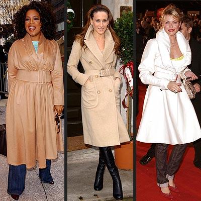 TREND: BELTED COAT photo | Cameron Diaz, Oprah Winfrey, Sarah Jessica Parker