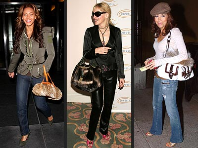 TREND: FUR BAG photo | Beyonce Knowles, Eva Longoria, Sharon Stone