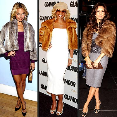 TREND: CROPPED FUR JACKET photo | Eva Longoria, Mary J. Blige, Nicole Richie