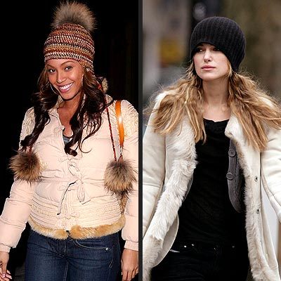 TREND: KNIT CAP photo | Beyonce Knowles, Keira Knightley