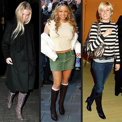 TREND: LACE-UP BOOTS photo | Gwyneth Paltrow, Mariah Carey, Sienna Miller