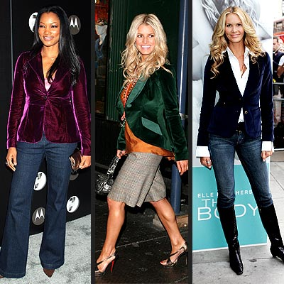 TREND: VELVET BLAZER photo | Elle Macpherson, Garcelle Beauvais-Nilon, Jessica Simpson