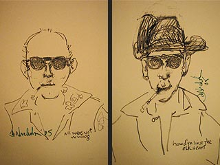 Jack Nicholson Draws Hunter S. Thompson | Jack Nicholson