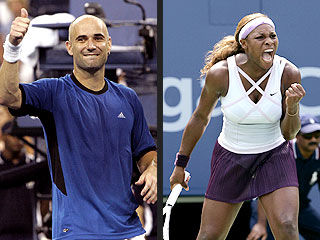 Agassi, Serena: U.S. Open Crowd Pleasers | Andre Agassi, Serena Williams