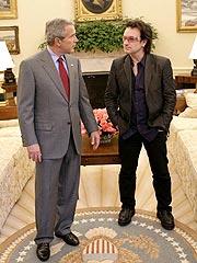 Bono Lunches with President Bush | Bono, George W. Bush