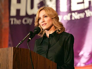 Madonna Lectures N.Y. College Class