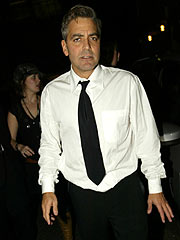 George Clooney in London Dustup