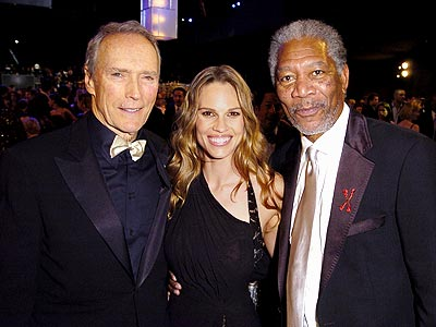 KNOCKOUT photo | Clint Eastwood, Hilary Swank, Morgan Freeman