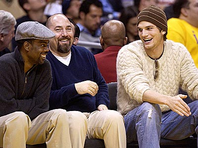COURTSIDE COMICS photo | Ashton Kutcher, Chris Rock