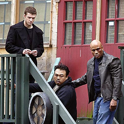 CRIME SCENE photo   Justin Timberlake, LL Cool J